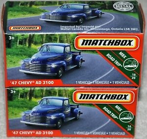 Matchbox Power Grabs 2019 #19 Road Trip #16 1947 Chevy AD 3100 Pickup lot of 2