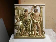 Relief Groß Griechische Skulptur Wandrelief Bild Greek Flachrelief Stuck Antik