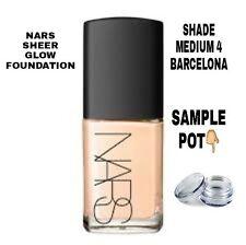 NARS Sheer Glow Foundation Sample Pot Shade Medium 4 Barcelona