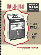 MANUALE COMPLETO (manual) JUKEBOX ROCK-OLA 404 CAPRI (1963) (juke box)