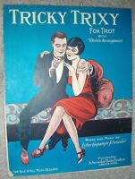 1926 TRICKY TRIXY (Fox Trot) Vintage Sheet Music by Esther Schroeder IOWA