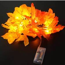 Fall Thanksgiving Maple Leaf Lamp Garland Party Decor LED Lighted Autumn Leaves