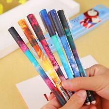 6 Pcs/Set 0.38mm Starry Watercolor Gel Pen Students Office Writting Stationery