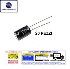 10 PEZZI Condensatori elettrolitici 220uF micro farad 10V volts 105°