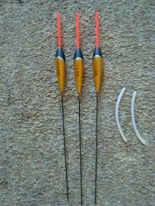 3 x WE304 Pole Floats 3 x 0.3g red tip with added silicon