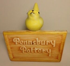 Rare Pennsbury Dealer Sign Yellow Bird_XLNT_VTG Art Pottery Figurine AfterStangl