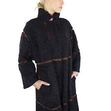 Persianer fournissait fourrure Cuir manteau * Persian Double Coat Vintage Chic * Vintage