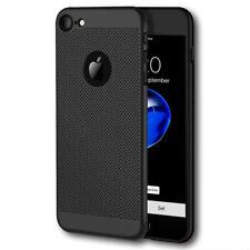 iPhone 7 iPhone 8 Hoesje Zwart Mesh Gaatjes Hard Case Cover