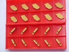 10x Wendeplatten zum Stechen GTN-3 P35C  Tin Beschichtung f. Stahl und Edelstahl