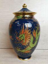 Crown Devon Fieldings Blue Dragon Chinese Lidded Ginger Jar