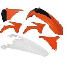 Racetech KTM Orange/White Plastics Kit 2011-12 125-450 SX-SX-F