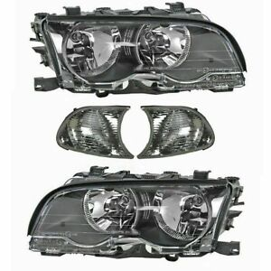 FOR 323I 325I 330I COUPE 1999 - 2001 HEADLIGHT HALOGEN  & CORNER RIGHT & LEFT
