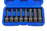 """US Pro by Bergen 8pc 1/2"""" Impact Hex Allen Socket Bits Set Metric 5-19mm B1378"""