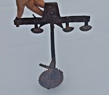 Vintage Old  Iron Carving Work Primitive Tribal Wall Hanging Oil Light Lamp