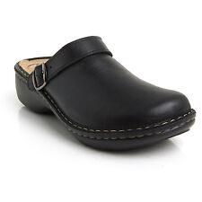 Batz MIRA 5-Zones Black Womens Leather Slip On Mules Clogs Sandals Shoes New UK
