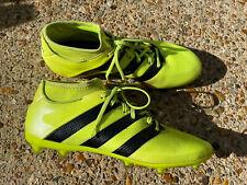 ADIDAS Neon Yellow Sock Style Football Boots Studs Size UK 9