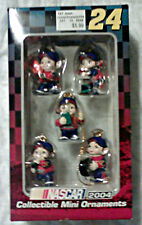 2004 Trevco NASCAR Racing Jeff Gordon #24 Collectible Mini Ornament Pit Crew Set