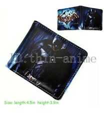 Men's Boys Batman Asylum Avenge rs Leather Bifold Wallet Money Card Holder Clip