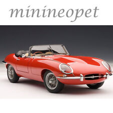 AUTOart 73601 JAGUAR E TYPE ROADSTER SERIES 1 3.8 1/18 RED with METAL WIRE SPOKE