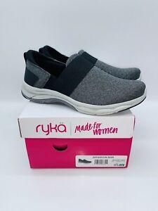 Ryka Women's Faye Knit Slip-On Sneaker Shoes - Black US 6.5W / EUR 36.5