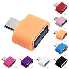 2PC Android Cell Phone Mini Micro USB OTG Adapter Converter Tools Random Color