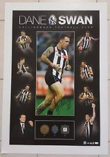 AUTHENTIC DANE SWAN HAND SIGNED OFFICIAL COLLINGWOOD PRINT POSTER