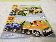 LEGO BUILD and REBUILD 4635 FUN WITH VEHICLES manual books ONLY!