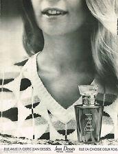 PUBLICITE ADVERTISING 055  1973  JEAN DESSES  parfum femme