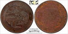 PERU SPECIMEN 1870 MEDAL Railroad Proclamation PCGS SP62 BN TOP GRADED Fon-9177