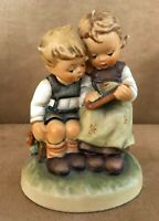 Goebel Hummel Figurine 346 Smart Little Sister brother writing slate tm6 vintage