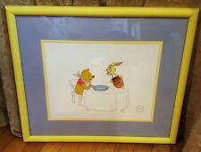 DISNEY ART CLASSIC *Winnie the Pooh & Rabbit* Framed LE Sericel