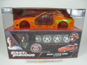 TOYOTA SUPRA BRIAN FAST AND FURIOUS 1/24 JADA TOYS (METAL KIT ASSEMBLY)