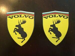 2 VOLVO Ferrari Style Race STICKER 3 1/2 inches by 3 inch