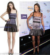 NWT $318 BCBGMAXAZRIA Mia Party Dress with Ruffle Skirt Medium 8