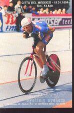 FRANCESCO MOSER Cyclisme ciclismo Champion du Monde 94 Mexico World Record vélo