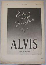 1942 Alvis Original advert No.3