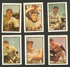 1953 Bowman Reprint Detroit Tigers 10 card team set Pesky, Hutchinson, Dropo