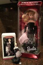 1995 Solo in the Spotlight Barbie Doll by Mattel & Hallmark Ornament set - NIB