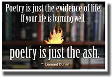 Poetry is the Evidence of Life - New Classroom Reading and Writing Poster