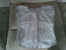 Girls 6 Years - White & Purple Floral Print Short Sleeve Blouse - OshKosh