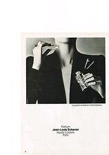 PUBLICITE  1980   JEAN LOUIS SCHERRER   parfum haute couture  LA PASSION