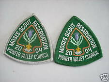 MOSES SCOUT RESERVATION POCKET PATCH SET 2004