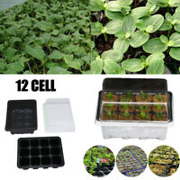 SEED STARTER PROPAGATION KIT TRAY 12 Cell Seedling Plant Clone Greenhouse Dome