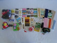 Assorted Vintage New Sewing Supplies Notion Craft Large Lot Needles Buttons Lace