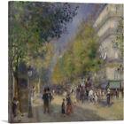ARTCANVAS The Grands Boulevards 1875 Canvas Art Print by Pierre-Auguste Renoir