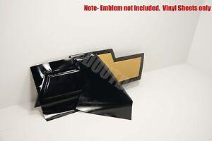 (2) Silverado Universal Chevy Bowtie Vinyl Sheets Emblem Decal Overlay