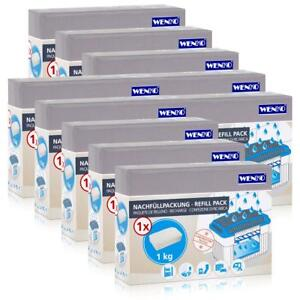 10x Wenko Nachfüllpackung Feuchtigkeitskiller RaumEntfeuchter, 1kg Granulat