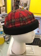 Mackinaw Toque Hat Cap Black Red Plaid Vintage Beanie Medium Canada
