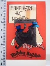 Aufkleber Sticker Metallfolie - Hubba Bubba - Katze Glatze - Kaugummi (2279)