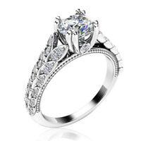 Elegant Women Wedding Rings 925 Silver Round Cut White SapphireSize6-10